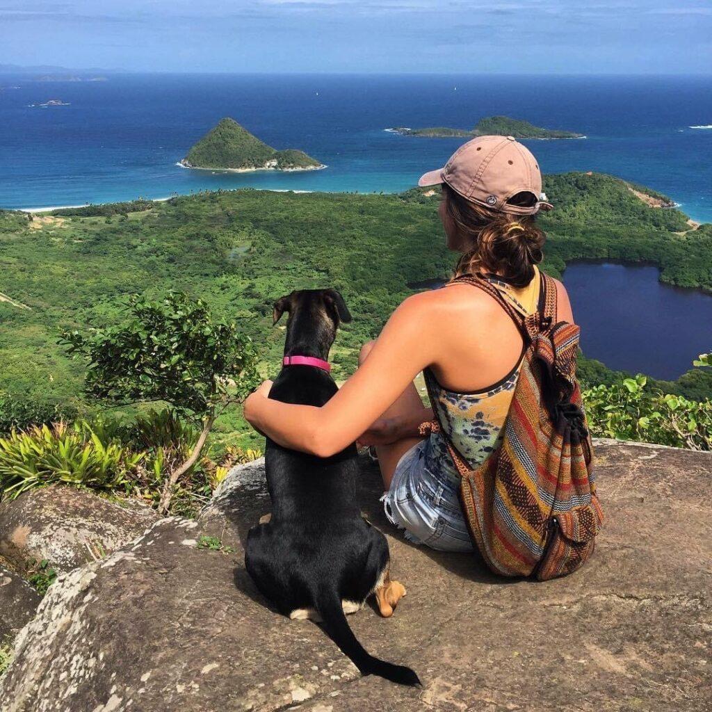 Palm Beach Equine Clinic Veterinarian Dr. Abby Berzas hiking